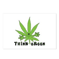 Marijuana Think Green Postcards (Package of 8)