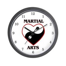 Love Martial Arts Wall Clock