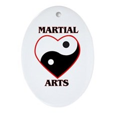 Love Martial Arts Ornament (Oval)