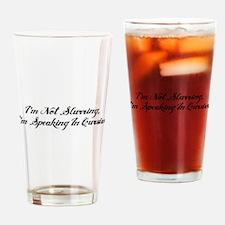 Speaking In Cursive Drinking Glass
