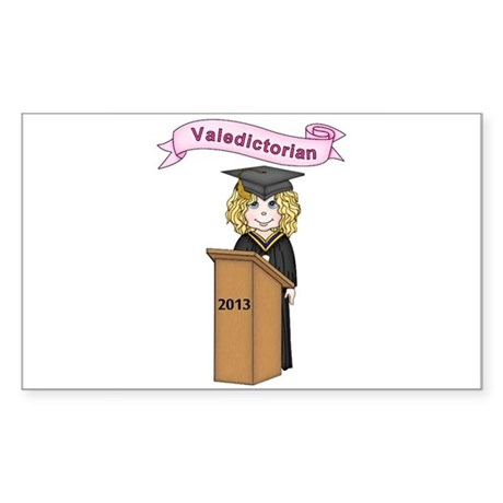 Valedictorian Girl 2013 Sticker