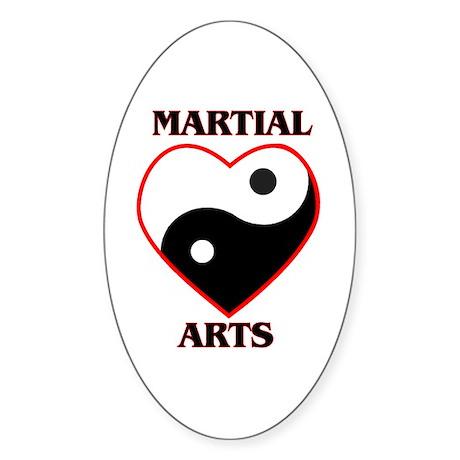 Love Martial Arts Sticker (Oval)