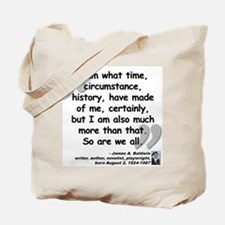 Baldwin More Quote Tote Bag