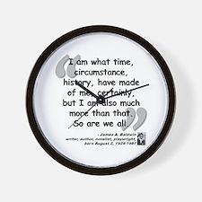 Baldwin More Quote Wall Clock