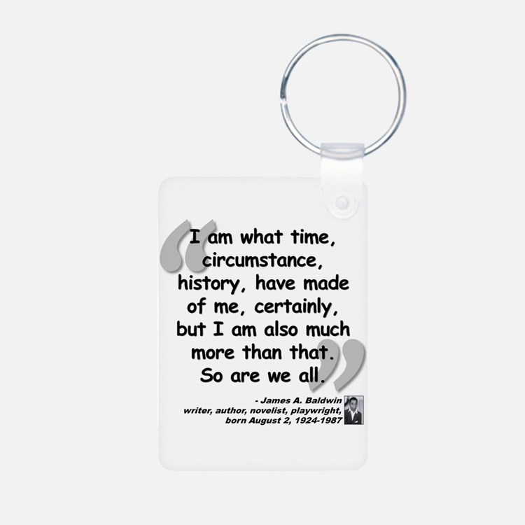 Baldwin More Quote Aluminum Photo Keychain