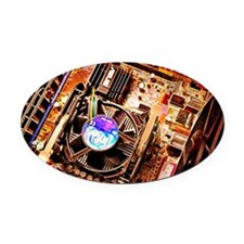 Computer circuit board - Oval Car Magnet
