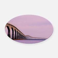 Confederation Bridge, Canada - Oval Car Magnet