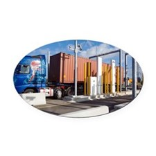 Container port security - Oval Car Magnet