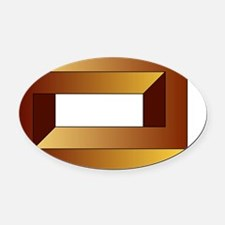 Impossible rectangle - Oval Car Magnet