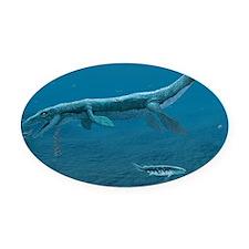 Mosasaurus - Oval Car Magnet