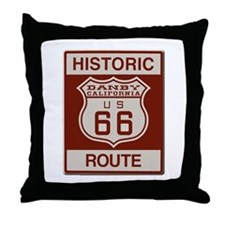 Danby Route 66 Throw Pillow