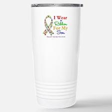 I Wear Autism Ribbon For My Son Travel Mug