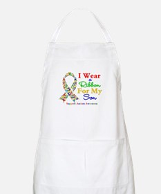 I Wear Autism Ribbon For My Son Apron