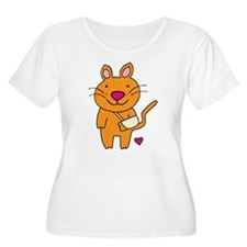 Broken Kitty Plus Size T-Shirt