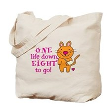 One Life Down... Tote Bag