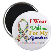Grandson Autism Ribbon Magnet