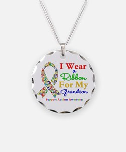 Grandson Autism Ribbon Necklace