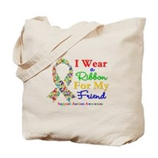 Friend Autism Ribbon Tote Bag