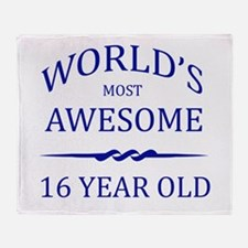 World's Most Awesome 16 Year Old Throw Blanket