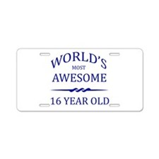World's Most Awesome 16 Year Old Aluminum License