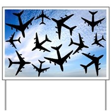 Air traffic, conceptual image - Yard Sign