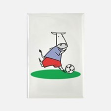 Soccer Cow Rectangle Magnet