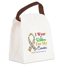 Autism Ribbon Cousin Canvas Lunch Bag