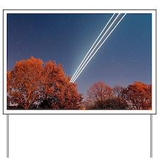 Aeroplane light trails - Yard Sign