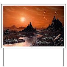 Alien planet, artwork - Yard Sign