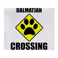 Dalmatian Crossing Throw Blanket