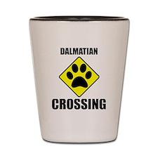 Dalmatian Crossing Shot Glass