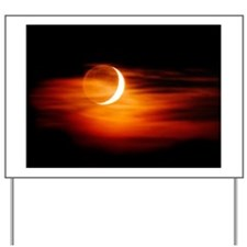 Crescent Moon at sunset - Yard Sign