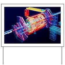 Computer art of ATLAS detector - Yard Sign
