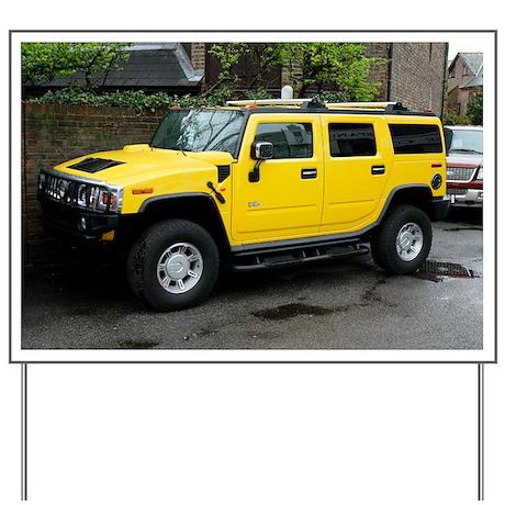 Hummer 4x4 vehicle - Yard Sign