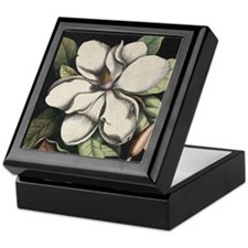 Botanical Magnolia Keepsake Box