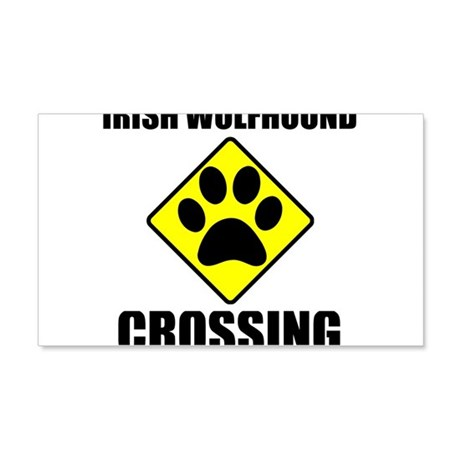 Irish Wolfhound Crossing Wall Decal