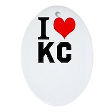 I Heart Kansas City Ornament (Oval)