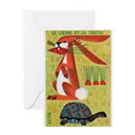 Vintage The Tortoise and the Hare Matchbox Label G