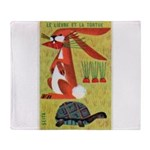 Vintage The Tortoise and the Hare Matchbox Label