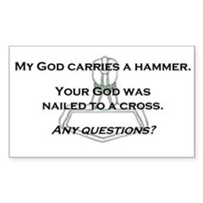 Hammer Rectangle Decal
