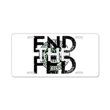 End the Fed Green Aluminum License Plate