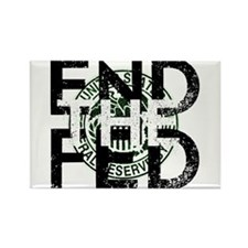 End the Fed Green Rectangle Magnet