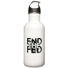 End the Fed Green Water Bottle
