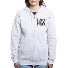 End the Fed Green Zip Hoodie