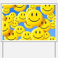 Smiley face symbols - Yard Sign