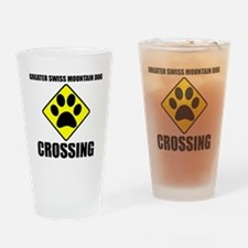 Greater Swiss Mountain Dog Crossing Drinking Glass