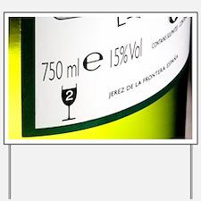 Sherry bottle label - Yard Sign