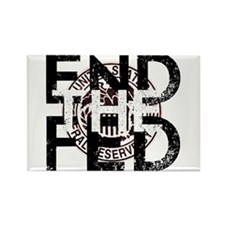 End the Fed Red Rectangle Magnet
