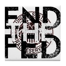 End the Fed Red Tile Coaster