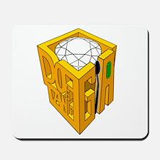 GIA transparent diamond green stone Mousepad